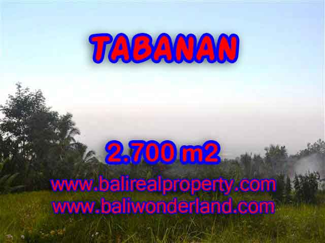 Exotic LAND FOR SALE IN TABANAN Bali, mountain, ricefields, river and ocean view in Tabanan Penebel – TJTB128