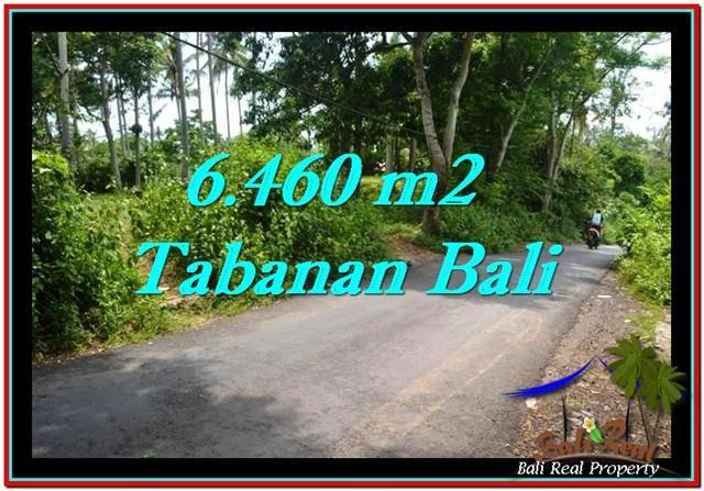 Affordable 6,460 m2 LAND SALE IN TABANAN TJTB256