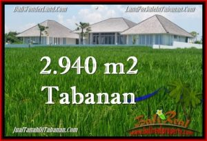FOR SALE Magnificent PROPERTY 2,940 m2 LAND IN TABANAN BALI TJTB265